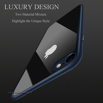 iPhone XS XR 7 6S 8 Luxury Slim Hybrid Shockproof Clear Hard Thin Case Cover For