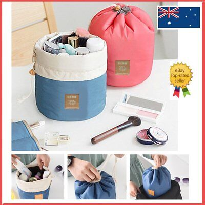 Barrel Cosmetic Wash Bag Makeup Storage Travel Toiletry Organizer Case Pouch AU