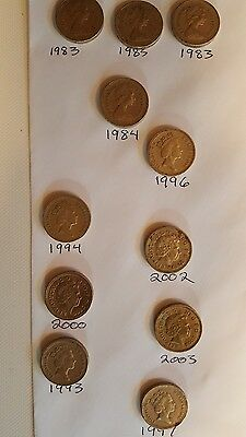 Britain One Pound Coin Lot