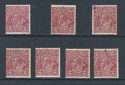 """SGLE WMK 2d Browns SG 78/78a x 7, all """"CTO EX THE SPECIMEN COLLECTOR SET"""" BW 97w"""