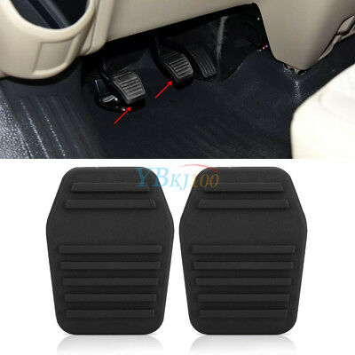 2x Clutch Brake Pedal Pad Rubber Cover For Ford Transit MK6 MK7 2000-2004 Black
