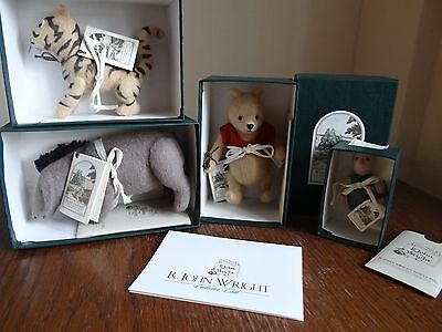 Rare Vintage R John Wright Winnie the Pooh Doll Collection with Backdrop