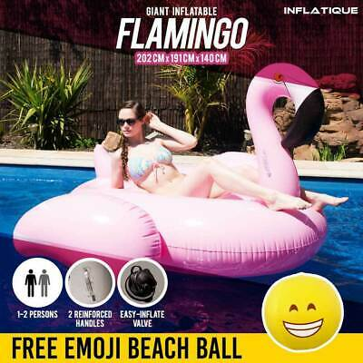 Giant Inflatable Flamingo | Pink Blow Up Pool Toy Ride On