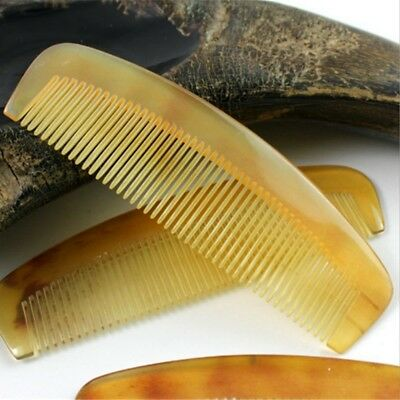 Natural Amber Ox Horn Comb Hair No Static Health Care Brush Hairdressing Comb