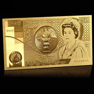 WR Great Britain UK £50 Gold Banknote Queen Elizabeth Pound Note In COA Sleeve