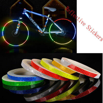 Reflective Stickers Motorcycle Bicycle Security Wheel Reflector  Rim Decal Tape