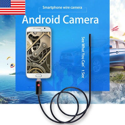 1-10M 5/7/8mm 6LED Android  Endoscope USB Waterproof Borescope Inspection Camera
