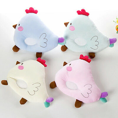 Baby Newborn Sleep Head Support Pillow Infant Anti Roll Cushion Chick Type Blue