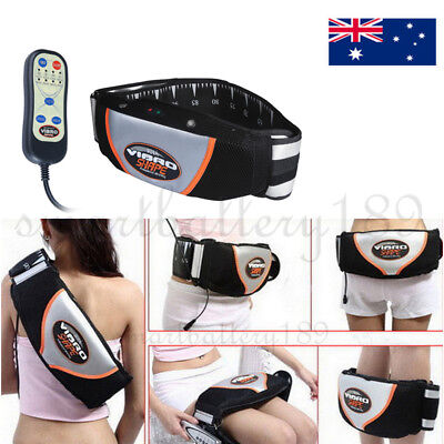 New Electric Vibration Massage Body Waist Fitness Fat Burner Toning Waist Belt