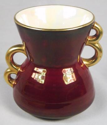 Carlton Ware Rouge Royale Red Double-Handled Small Vase