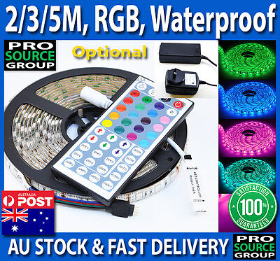 2M/3M/5M RGB 5050 SMD 60 LEDs/m Waterproof 12V Led Strip Light + 44 Key Remote