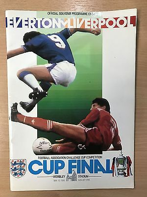 EVERTON v LIVERPOOL 1986 CUP FINAL OFFICIAL PROGRAMME WEMBLEY