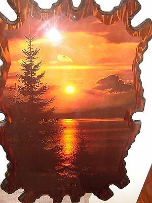Painting Print - Sunset on Wood - very unusual and unique