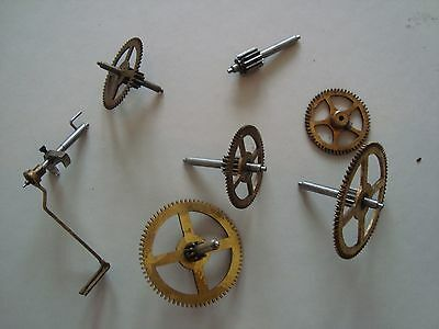 Large Drive Wheels and Pinions and Spindles ( German Clock)