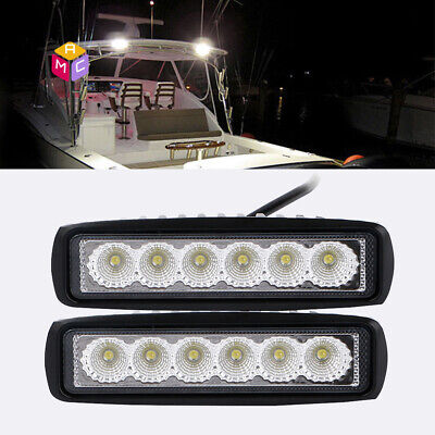CA stock NEW Marine Boat Pontoon Bright LED Docking Spreader Flood Light 12V 24V