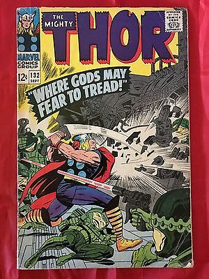 Thor #132 1st Ego The Living Planet 1966 Marvel Comics VG/FN