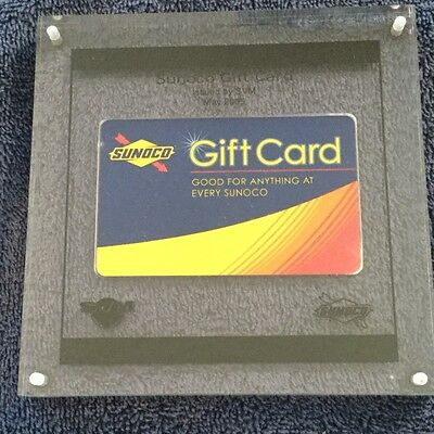 SUNOCO Gift Card in Acrylic Collectible Issued by SVM May 2005 Rare