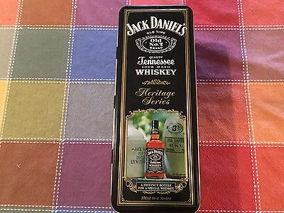 EMPTY Jack Daniel's Tennessee Whiskey Tin Heritage Series Hinged Lid Made in USA