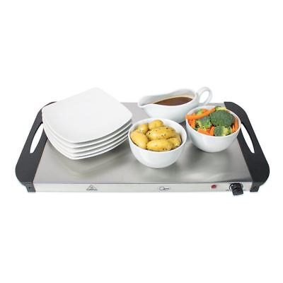 New Stainless Steel Buffet Server Warming Tray Food Warmer Trays Hot Plate 3 Pan