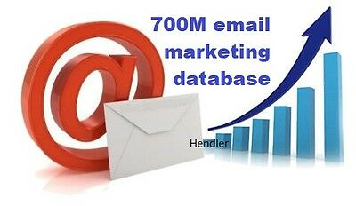 700 Million Database Email Marketing List &Bonus marketing books& Sending Method