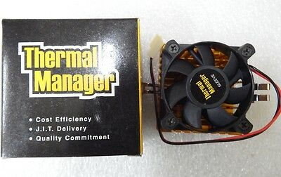 Retro Socket 7 CPU Heatsink and Fan  New in the Box with Thermal Paste