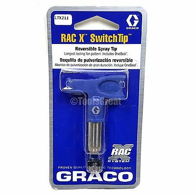 Graco Rac X SwitchTip  LTX211 Latex Paint Spray Tip 211