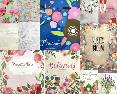 Writing Paper Pad 40 Sheets Gorgeous Letter Book Note Craft Floral Butterfly