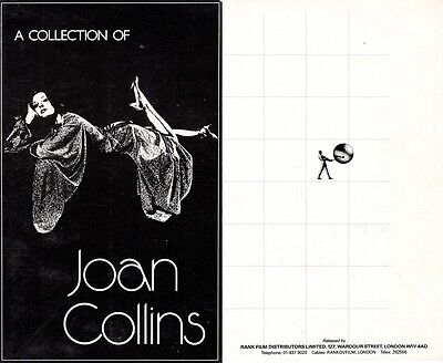 JOAN COLLINS - Extremely Rare RANK FILMS Industry Sales Gatefold Brochure F#27