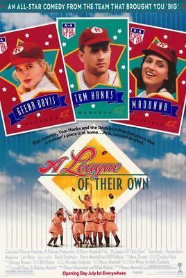 A League of Their Own Movie POSTER 11 x 17, Geena Davis, Tom Hanks, A, USA NEW