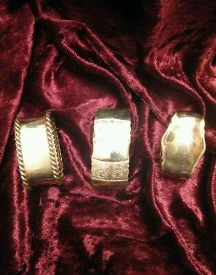 Napkin Rings Silverplate Set of 3