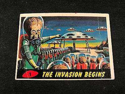 1962 Mars Attacks #1 - The Invasion Begins