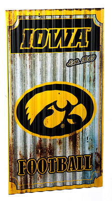 Iowa Hawkeyes Corrugated Metal Wall Art