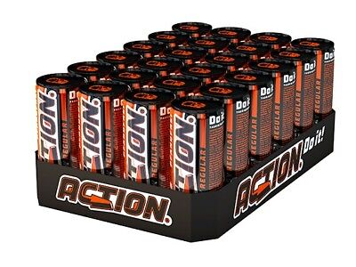 24 Dosen a 0,25L Action Energy Drink Dose Energie 250ml Energiedrink