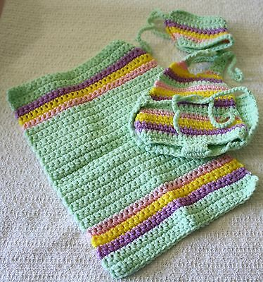 Hand Crocheted Cabbage Patch Kids clothing - girl and boy outfits!