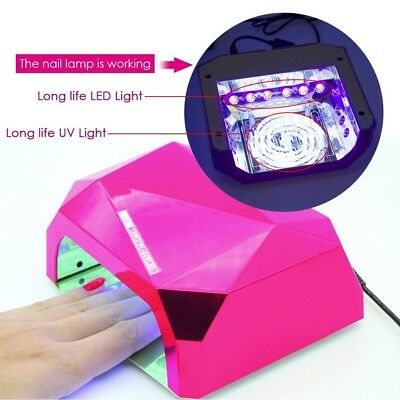 UV Nail LED Lamp Dryer 36W for Gel Polish Manicure Art Timer PROFESSIONAL Salon