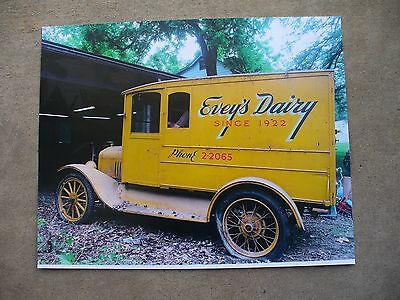 Old Evey's Dairy 1922 Milk Truck Photo Picture Altoona Pa Blair County