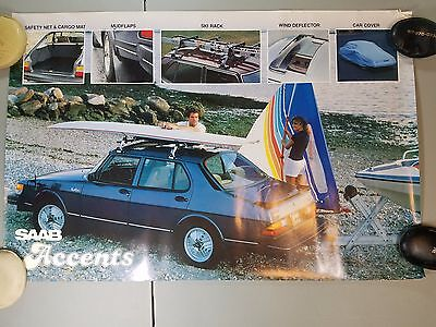 Saab 900 Turbo Accents Accessories Poster 1980's