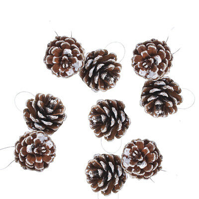9pcs Christmas Pine Cones Wood Pinecone Tree Decoration Crafts for Home Ornament