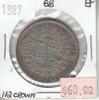 Great Britain 1/2 Half Crown 1887 Silver XF Extra Fine