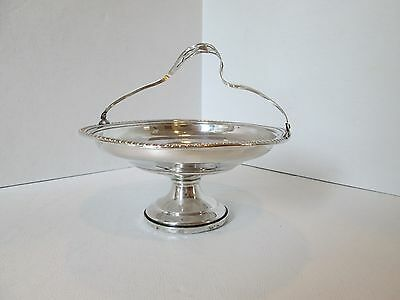 Sterling Silver Candy Dish with Hinged Handle Reinforced with  Cement Marked <M>