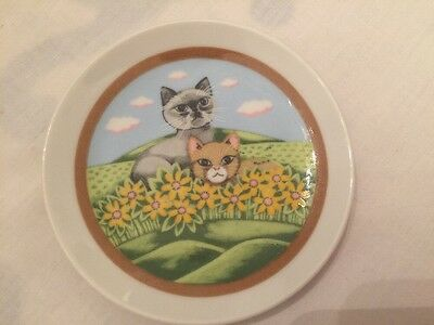 Veritable Porcelain Small Cute Cat Plate
