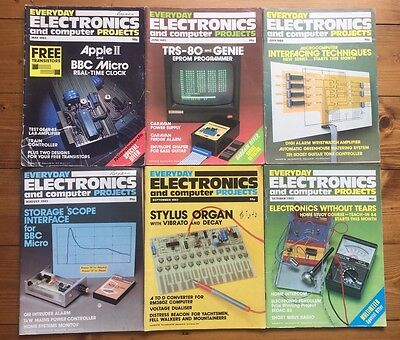Everyday Electronics and Computer Projects Magazine Bundle 6 Issues May-Oct 1983