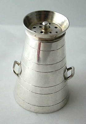 Victorian NOVELTY English MILK CHURN Sterling Silver PEPPERETTE ~ Chester 1894