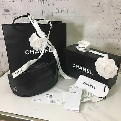 Chanel BOX with BAG and sunglass CASE and Authentic Chanel TAGS Papers Ribbon