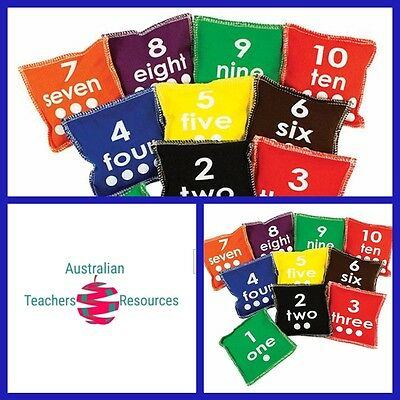 Bean Bags Number (10 piece) Teacher Resource