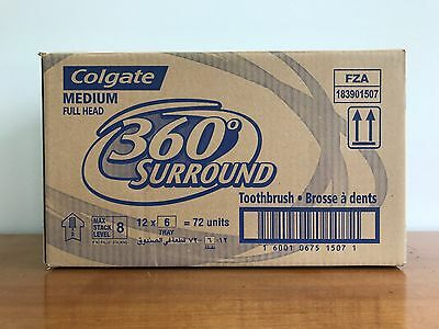 72 x COLGATE TOOTHBRUSH 360 SURROUND MEDIUM BULK BUY BRAND NEW