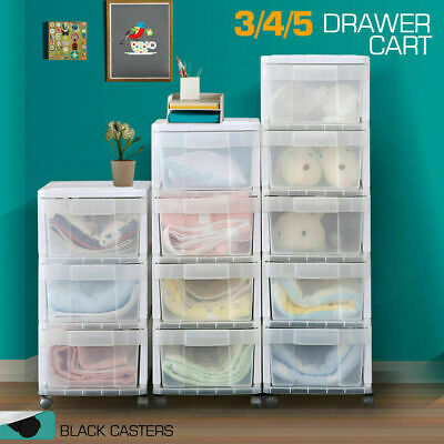 New 3/4/5 Drawer Rolling Storage Cart Scrapbook Paper Office School Organiser