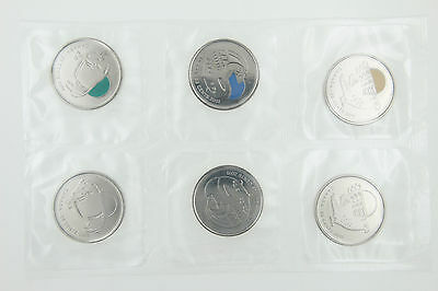 2011 Canadian Legendary Nature 25 Cents 6 Coin Pack Sealed Uncirculated - Color!