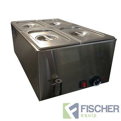 """new"" - Stainless Steel Hot Food Warmer Bain Marie Incl 1/4 Gn Tray - 8710.1.4"