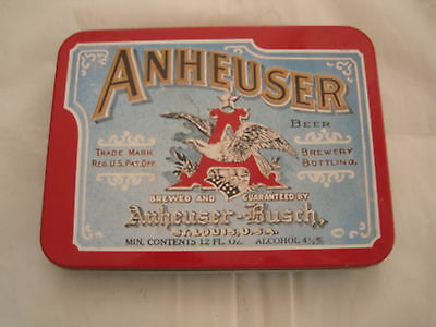 ANHEUSER-BUSH Brewing Company Classic Playing Cards (2 Decks) & TIN CASE 1991